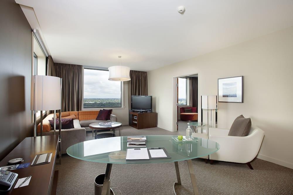 行政套房, 1 張特大雙人床 (Spa) - 客廳