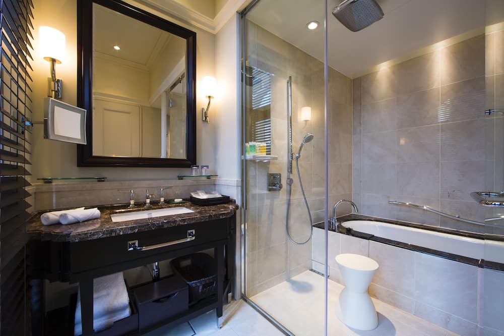 Zimmer, 1 Queen-Bett, Stadtblick - Badezimmer