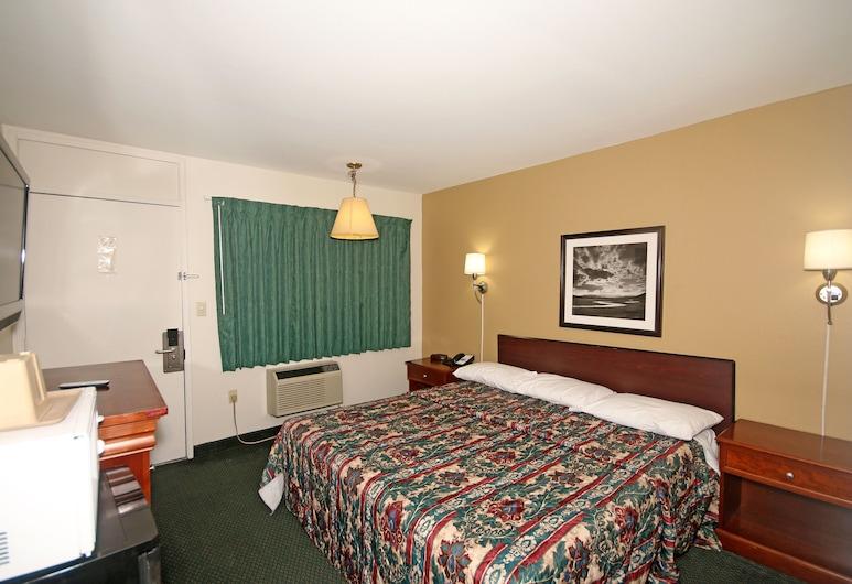 Royal Inn Charlotte Airport Hotel, Charlotte, Standardrum - 1 kingsize-säng, Gästrum