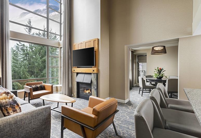 惠斯勒威斯汀溫泉度假酒店, 惠斯勒, 套房, 2 張加大雙人床, 非吸煙房, 山景, 客房