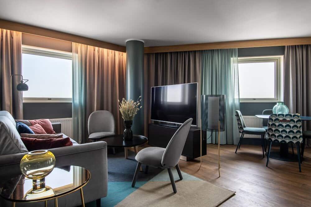 Suite - 1 dobbeltseng med sovesofa - ikke-ryger - Opholdsområde