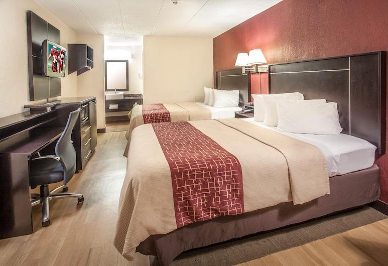 ريد روف إن آن أربور, آن أربور, غرفة ديلوكس - سريران كبيران - لغير المدخنين, غرفة نزلاء