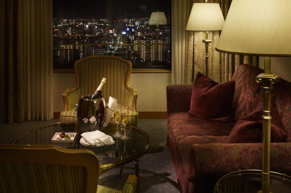 Žem. liukso klasės dvivietis kambarys (2 viengulės lovos), Nerūkantiesiems (57 sq.m.) - Vakarienės kambaryje