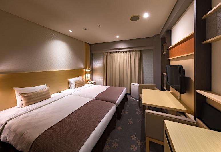 名古屋榮東急REI飯店, 名古屋, 高級雙床房, 吸煙房 (18 sqm, Bed size 110cm), 客房