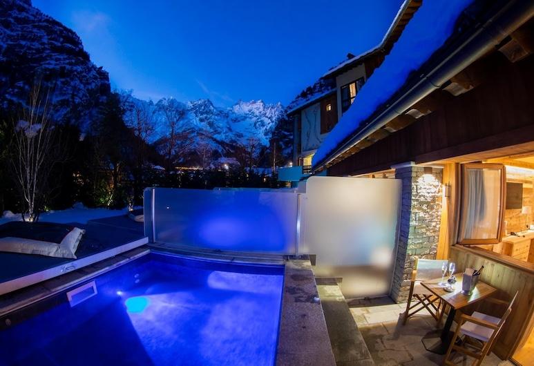 Gran Baita Hotel & Wellness, Courmayeur, Phòng đôi hoặc 2 giường đơn Executive, Hồ bơi riêng, Hồ bơi riêng