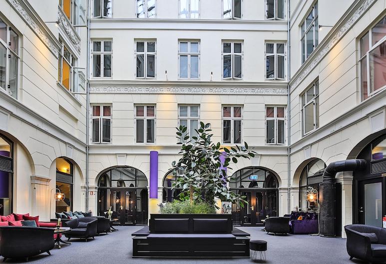 Hotel Kong Frederik, Copenhague, Zona con asientos del vestíbulo