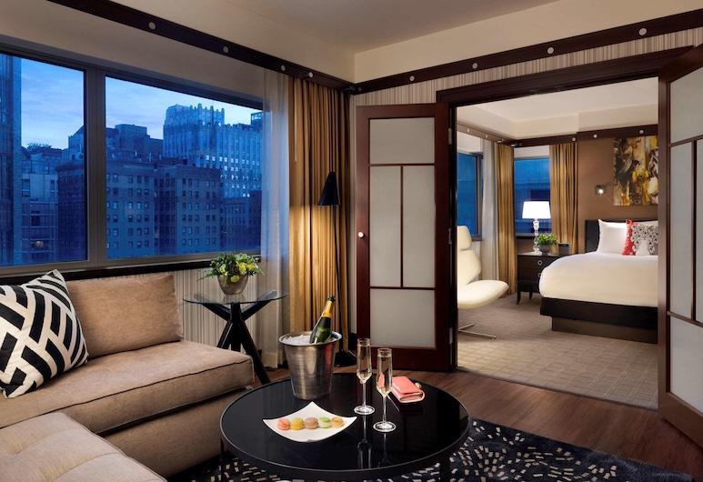 Sofitel Philadelphia at Rittenhouse Square, Philadelphia, Suite, 1 habitación, en la esquina (Prestige), Vista a la ciudad