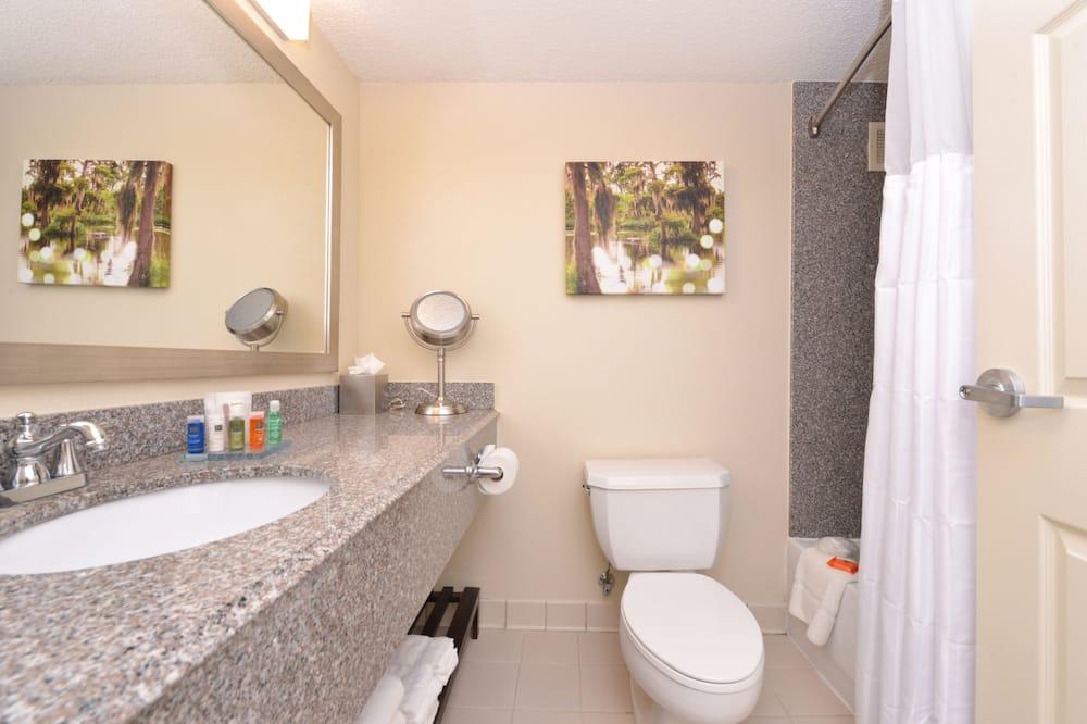 룸, 퀸사이즈침대 2개, 금연 (Workdesk, Ergonomic Chair) - 욕실