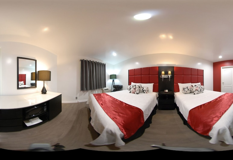 Legend Hotel Hollywood, Los Angeles, Rom – standard, 2 dobbeltsenger, Gjesterom