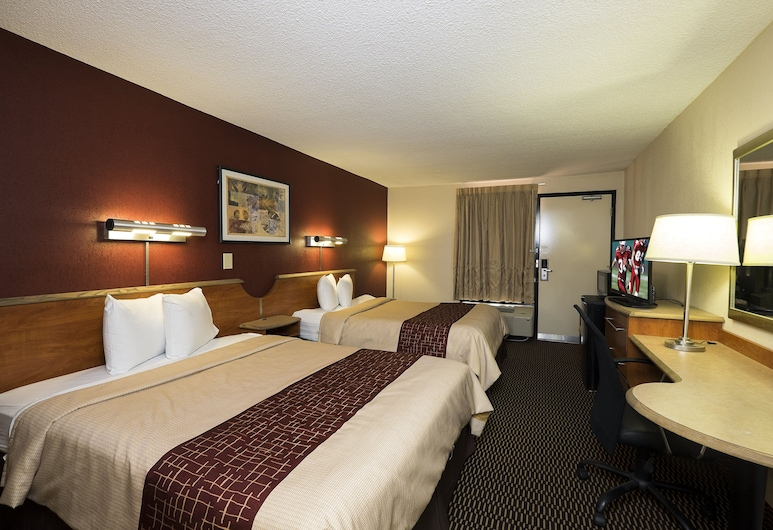 Red Roof Inn Virginia Beach - Norfolk Airport, Βιρτζίνια Μπιτς, Deluxe Δωμάτιο, 2 Queen Κρεβάτια, Μη Καπνιστών, Δωμάτιο επισκεπτών