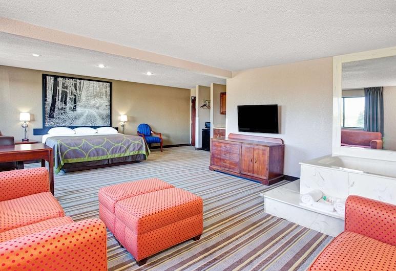 Super 8 by Wyndham Roseville/Detroit Area, Roseville, Apartament typu Suite, Łóżko king, jacuzzi, Pokój