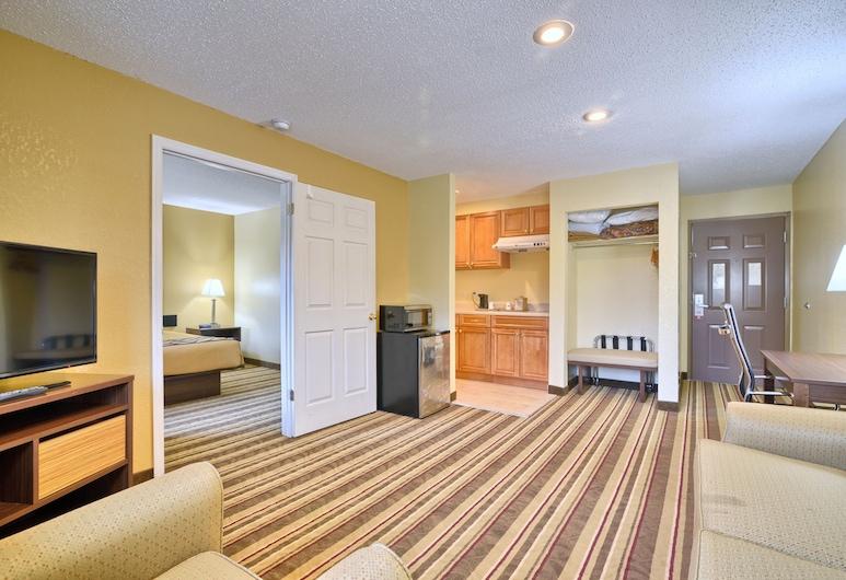 Super 8 by Wyndham Latham/Albany Troy Area, Latham, Suite clásica, 1 cama King size con sofá cama, para no fumadores, refrigerador y microondas, Sala de estar