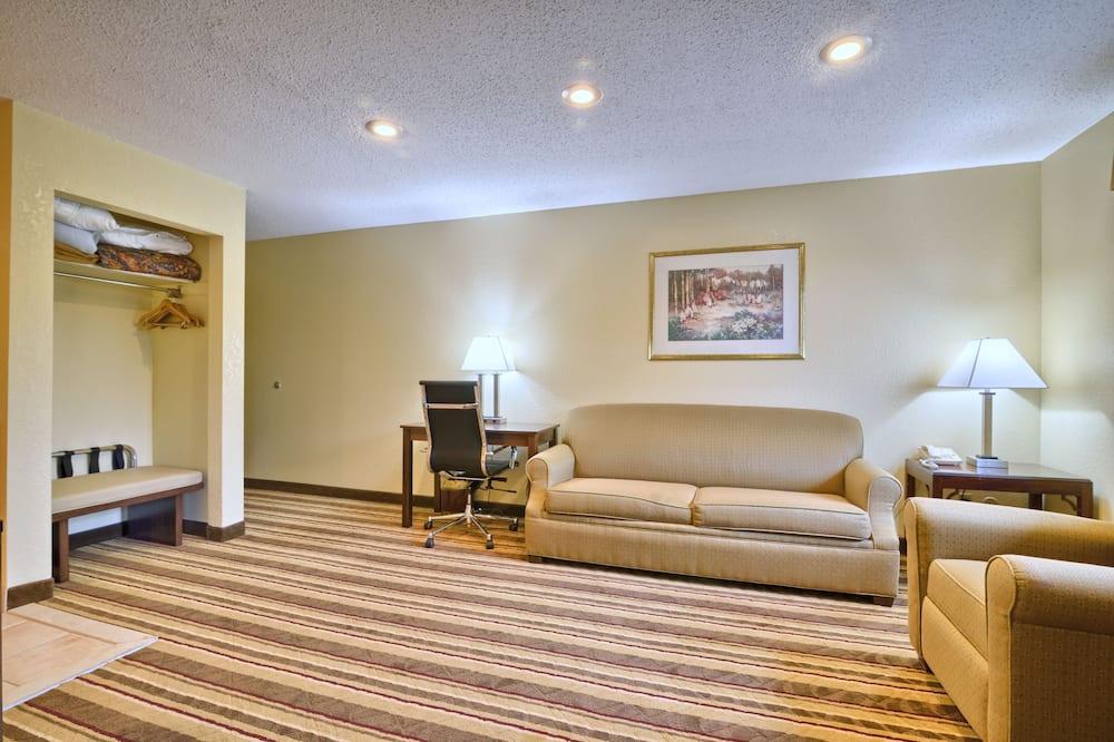 Klassieke suite, 1 kingsize bed met slaapbank, niet-roken, koelkast & magnetron - Woonkamer