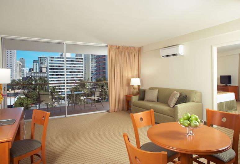 Pearl Hotel Waikiki, Honolulu, Suite, 1 Bedroom, Kitchen (with Balcony), Guest Room