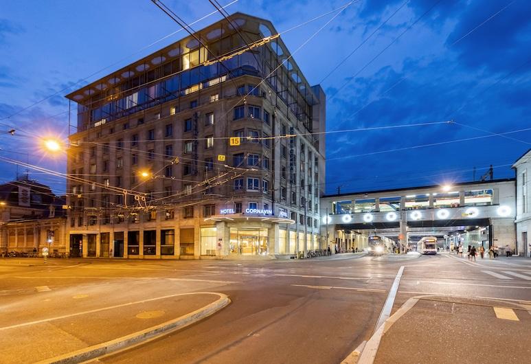 호텔 코르나빈, 제네바, 호텔 정면 - 저녁/밤