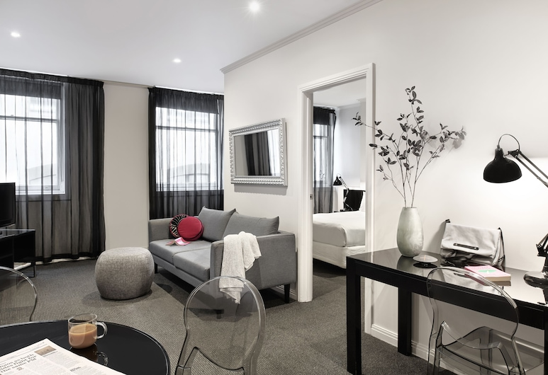 Punthill Flinders Lane, Melbourne, Two Bedroom Apartment - Open Plan, Área de estar