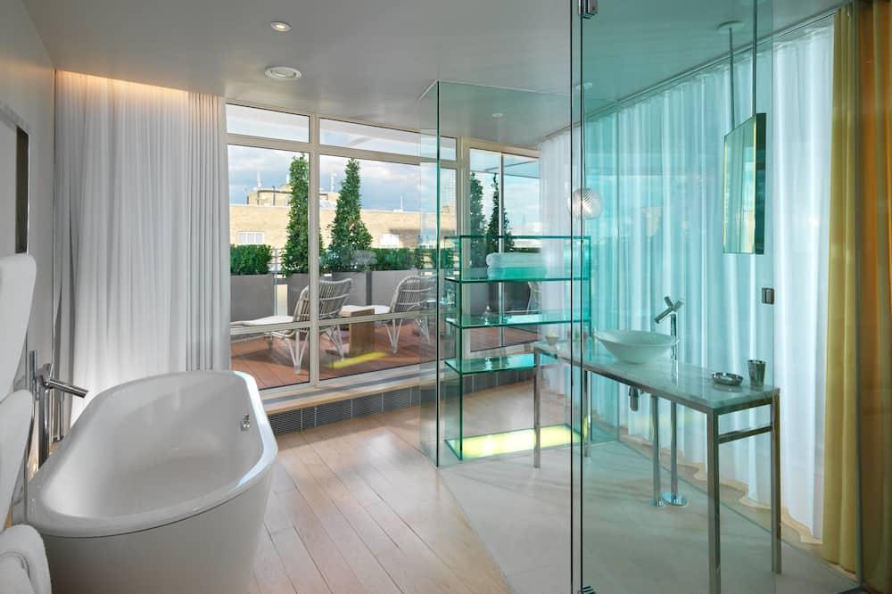 Suite, Terrasse (Suite) - Badezimmer