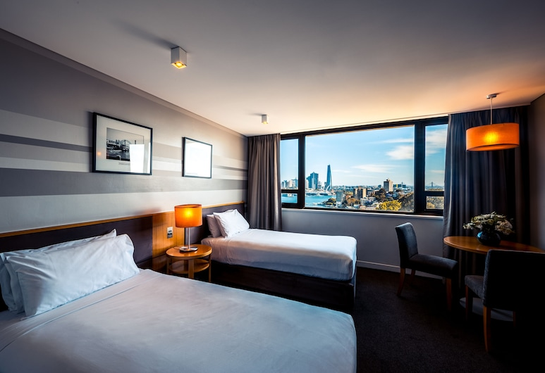 View Sydney  ( North Sydney Harbourview Hotel), North Sydney, Twin kamer, uitzicht op haven, Kamer