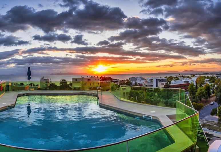 Emmantina Hotel, Glyfada, Hồ bơi tại sân thượng
