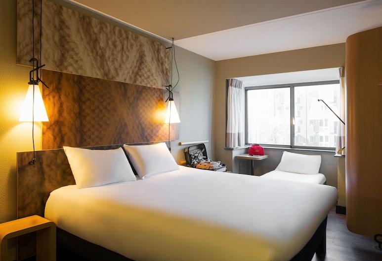 ibis Amsterdam Centre Stopera, Amsterdam, Zimmer, 1Doppelbett und Schlafsofa (NEW SWEET BED BY IBIS), Zimmer