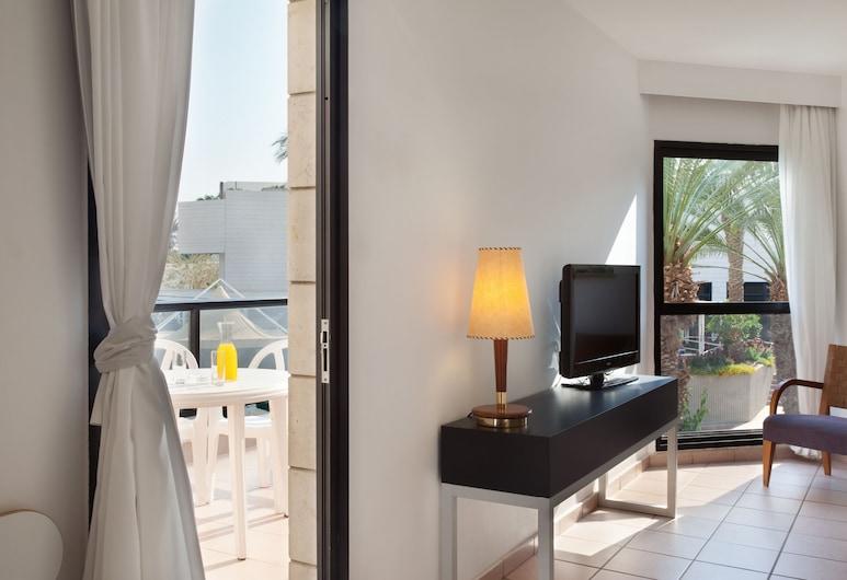Isrotel Riviera Club, Eilat, Studiolejlighed - udsigt til pool, Opholdsområde