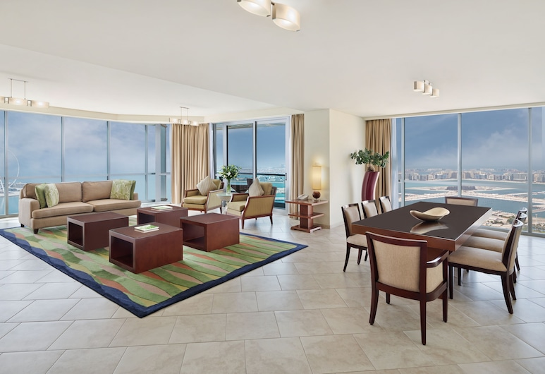 JA Oasis Beach Tower, Dubai, Deluxe Apartment, 4 Bedrooms, Living Area