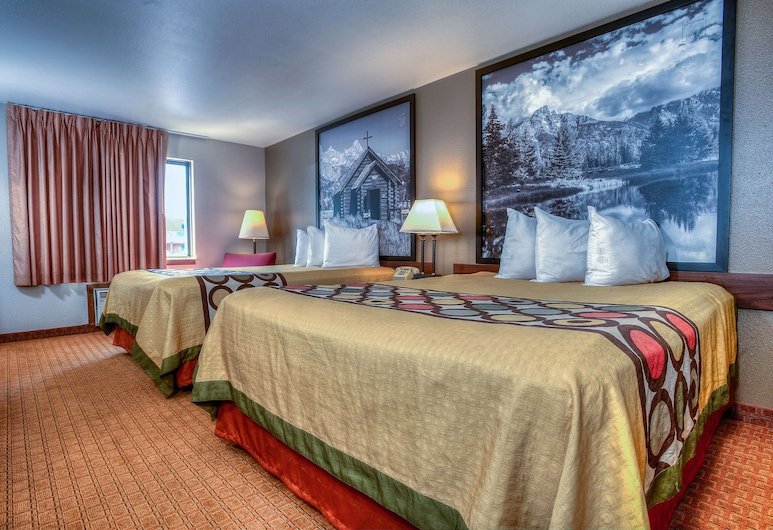 Super 8 by Wyndham Jackson Hole, Jackson, Room, 2 Queen Beds, Non Smoking, Guest Room