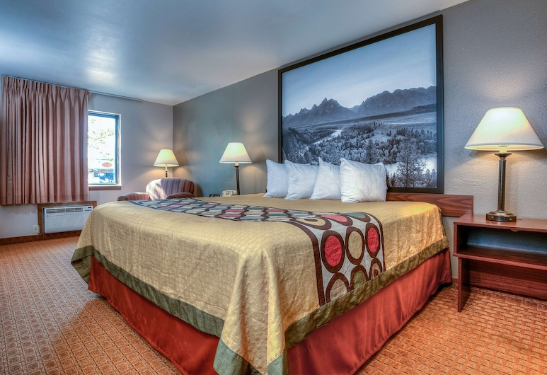 Super 8 by Wyndham Jackson Hole, Jackson, Room, 1 King Bed, Non Smoking, Guest Room