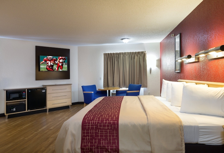 Red Roof Inn Houston - Westchase, יוסטון, חדר סופריור, מיטת קינג, ללא עישון, חדר אורחים