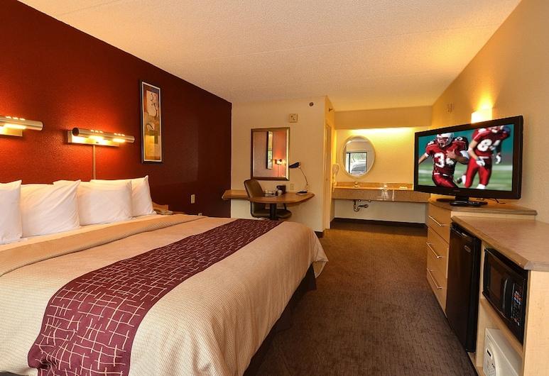 聖安東尼奧機場紅屋頂酒店, 聖安東尼奧, 高級客房, 1 張特大雙人床, 無障礙 (Smoke Free), 客房