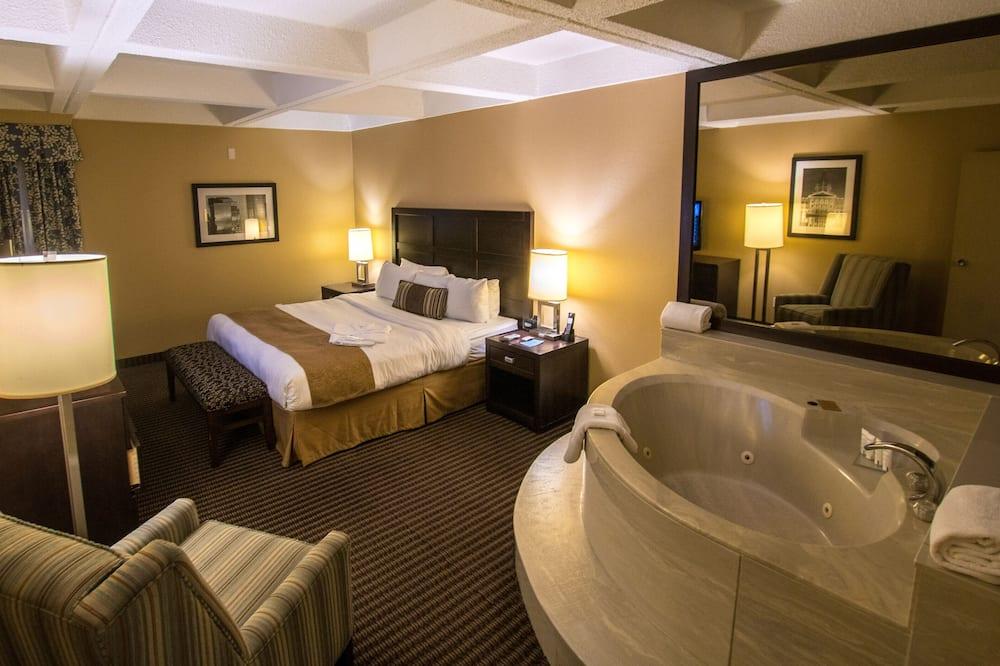 Suite, 1 cama king-size com sofá-cama, Não-fumadores, Banheira de Hidromassagem - Quarto