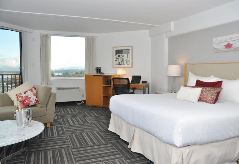 كوست باستون هوتل, نانايمو, غرفة بريميم - سرير ملكي - منظر للميناء (Coast Premium King with Ocean View), غرفة نزلاء