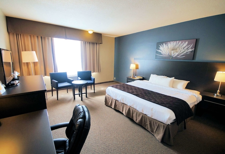 Days Inn & Conference Centre by Wyndham Montreal Airport, Montreal, Standard Room, 1 King Bed, Smoking, Guest Room