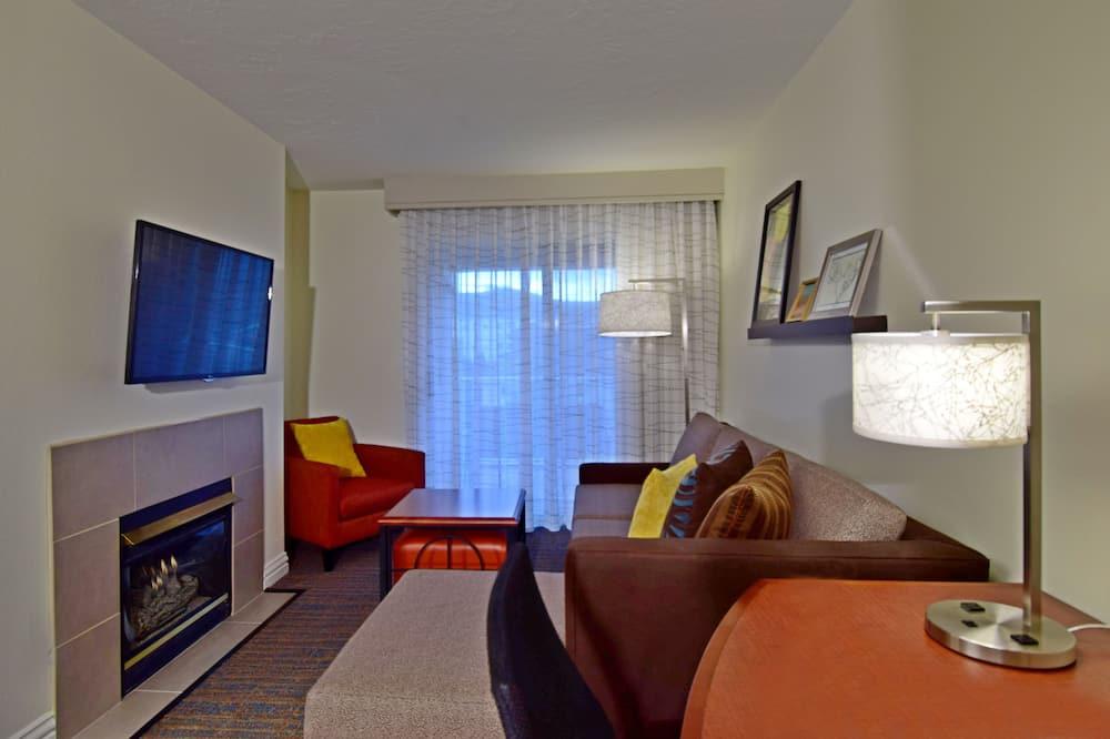 Люкс, 1 спальня, для некурящих - Зона гостиной