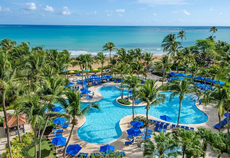 Wyndham Grand Rio Mar Puerto Rico Golf & Beach Resort, ריו גרנדה, סוויטת ג'וניור, מיטת קינג, ללא עישון, נוף לאוקינוס, נוף לחוף/לאוקיינוס