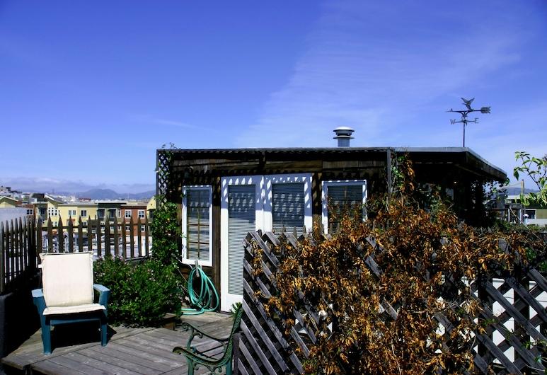 San Remo Hotel, San Francisco, Penthouse - 1 queensize-säng - utsikt mot staden, Gästrum