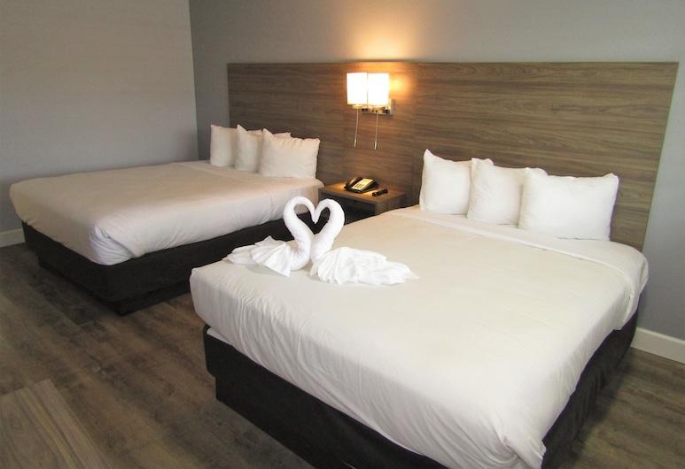 Vagabond Inn San Luis Obispo, סן לואיס אוביספו, חדר סטנדרט, 2 מיטות קווין, נגישות לנכים, חדר אורחים