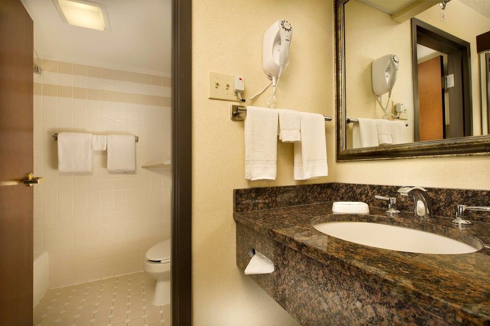 Sviitti, 1 suuri parisänky ja vuodesohva, Jääkaappi ja mikroaaltouuni (2 Rooms) - Kylpyhuone