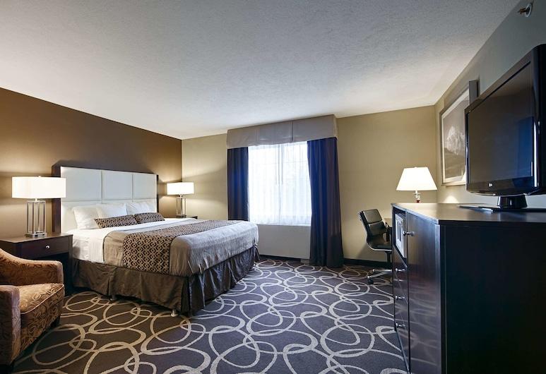 بايونيير بارك إن, فيربانكس, غرفة عادية - سرير ملكي - لغير المدخنين - ثلاجة وميكروويف, غرفة نزلاء