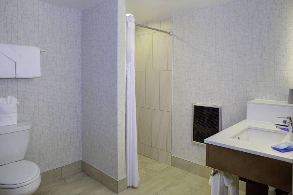 客房, 1 張特大雙人床, 無障礙, 非吸煙房 (Mobility, Roll-In Shower) - 浴室