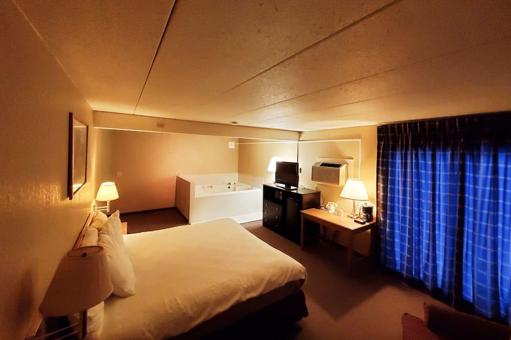 客房, 1 張特大雙人床, 非吸煙房, 雪櫃和微波爐 - 客廳