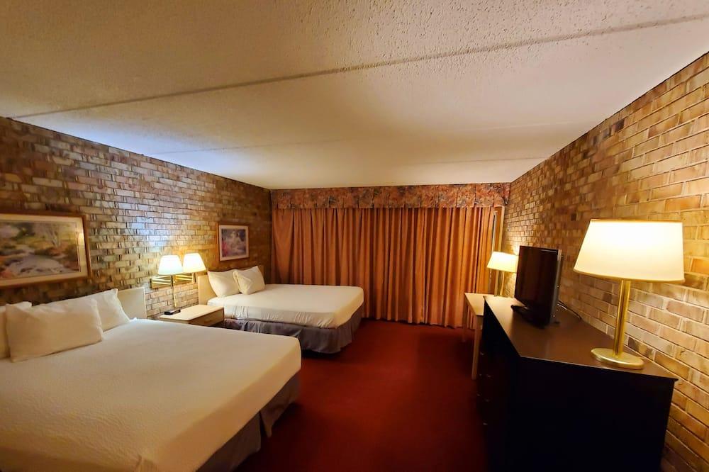 客房, 2 張加大雙人床, 非吸煙房, 雪櫃和微波爐 - 客廳