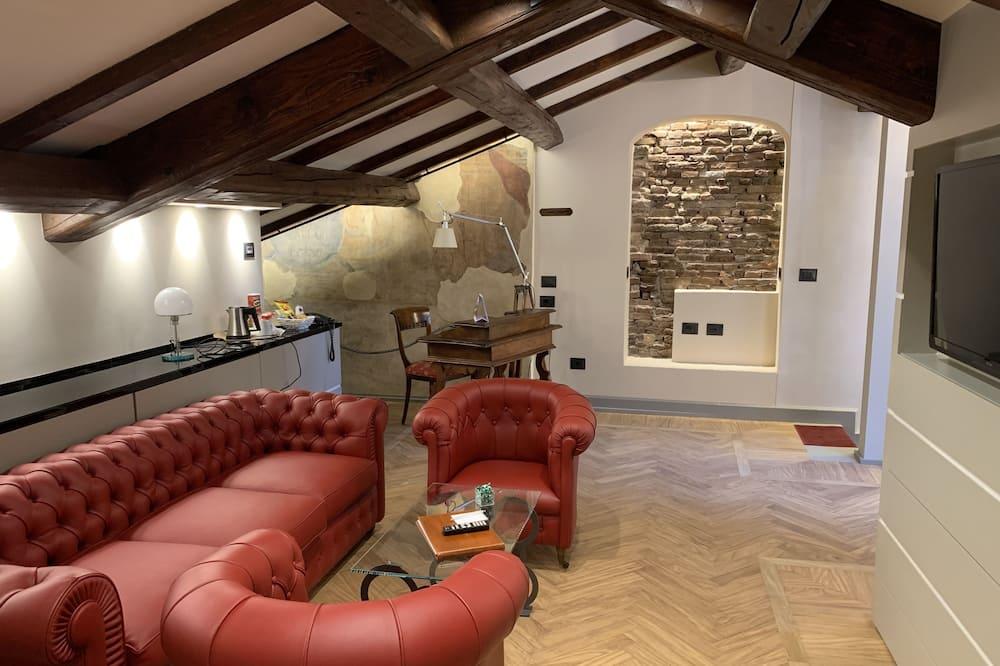 Lakosztály, 1 kétszemélyes ágy és egy kihúzható kanapé - Nappali rész