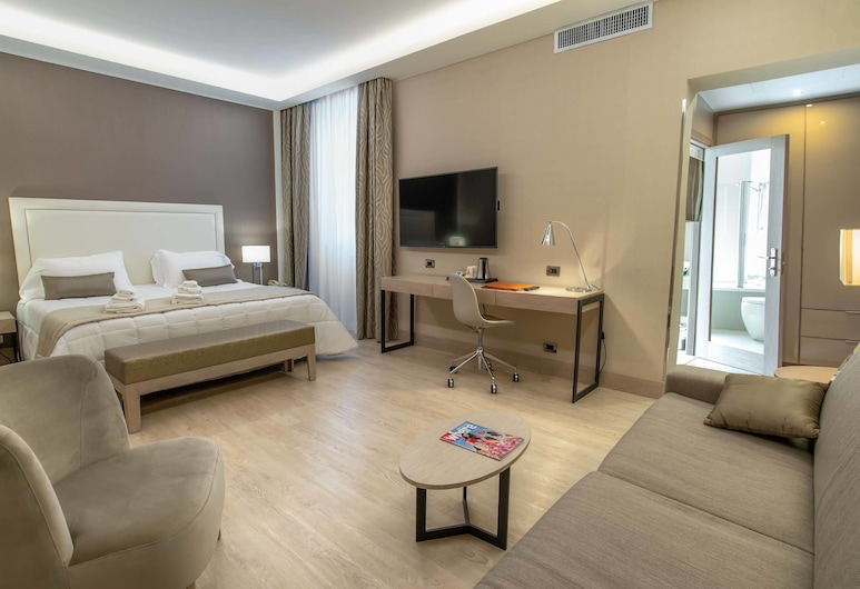 Hotel Genova, Rome, Suite Junior, Coin séjour