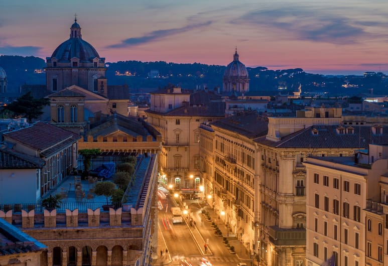 Hotel Cosmopolita, Rome, View from Hotel