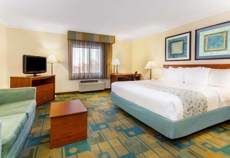 La Quinta Inn by Wyndham Chicago Willowbrook, וילוברוק, חדר דה-לוקס, מיטת קינג, חדר אורחים