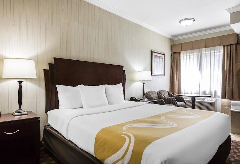 Quality Inn & Suites Los Angeles Airport - LAX, Inglewood, Rom, 1 kingsize-seng, badekar, Gjesterom