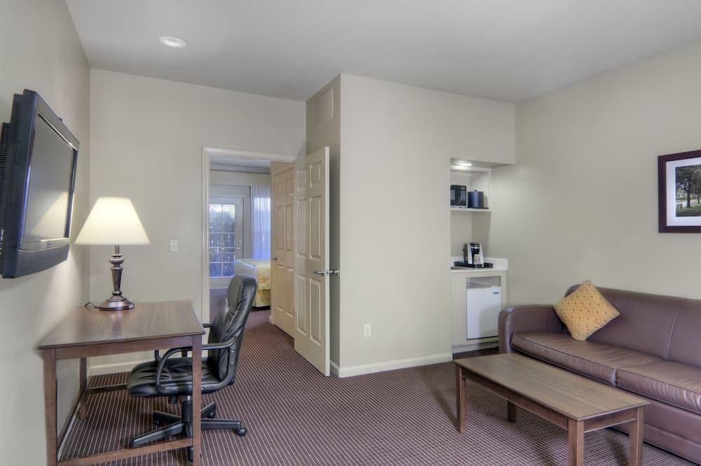 Suite, 1 très grand lit, accessible aux personnes à mobilité réduite - Salle de séjour