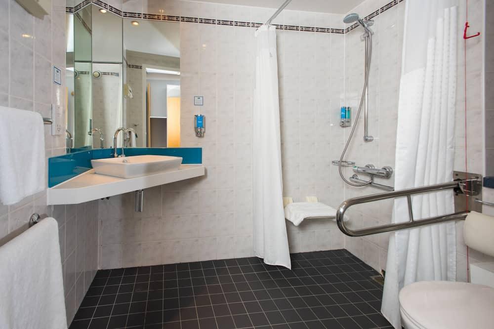 客房, 1 張標準雙人床, 無障礙 - 浴室