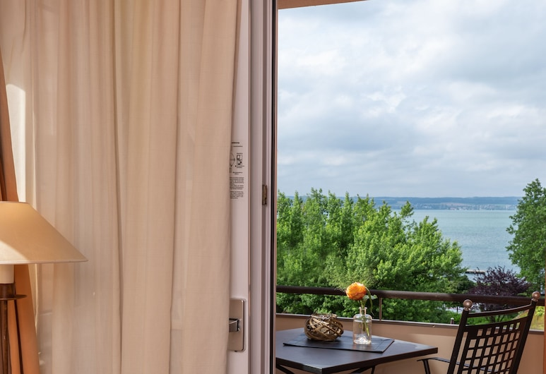 Romantik Hotel Residenz am See, Meersburg, Comfort-herbergi fyrir einn, tvíbreitt rúm, Svalir